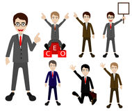 Illustration cartoon business man Royalty Free Stock Images