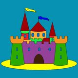 Illustration of  cartoon castle Royalty Free Stock Photography
