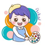 Male_Artist_vector vector illustration