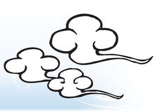 Illustration of cartoon clouds Royalty Free Stock Photography