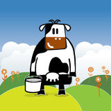 Illustration of cartoon cow Royalty Free Stock Photo