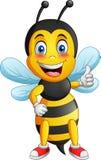 Cartoon cute bee stock illustration