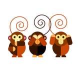 Illustration cartoon cute monkey character happy wild mam Royalty Free Stock Photos