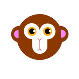 Illustration cartoon cute monkey character happy wild mam Stock Image