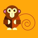 Illustration cartoon cute monkey character happy wild mam Stock Photography