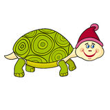 Illustration of Cartoon Cute Turtle Stock Image