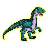 Illustration of a cartoon dinosaur. Isolated illustration of a cartoon dinosaur Stock Image