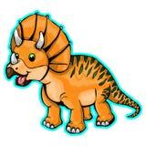 Illustration of a cartoon dinosaur. Isolated illustration of a cartoon dinosaur Stock Photography