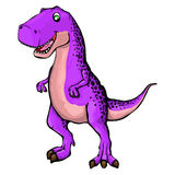 Illustration of a cartoon dinosaur. Isolated illustration of a cartoon dinosaur Stock Photo