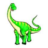 Illustration of a cartoon dinosaur. Isolated illustration of a cartoon dinosaur Royalty Free Stock Image
