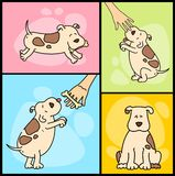illustration of cartoon dogs Stock Images