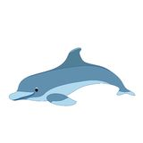 Illustration of a cartoon dolphin. EPS 8 Stock Photo