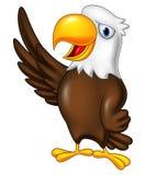Cartoon eagle waving vector illustration