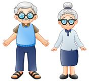 Cartoon elderly couple. Illustration of Cartoon elderly couple vector illustration