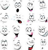 Illustration of cartoon faces Royalty Free Stock Photo