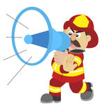 An illustration of cartoon fireman Royalty Free Stock Photos