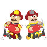 An illustration of cartoon fireman. Vector Royalty Free Stock Photo