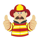 An illustration of cartoon fireman Royalty Free Stock Photos