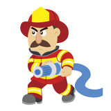 An illustration of cartoon fireman. Vector Royalty Free Stock Images
