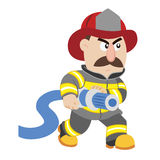 An illustration of cartoon fireman Stock Image