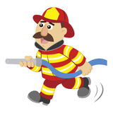 An illustration of cartoon fireman Royalty Free Stock Photo