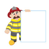 An illustration of cartoon fireman. Vector Royalty Free Stock Photo