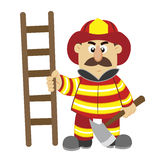An illustration of cartoon fireman Royalty Free Stock Photography