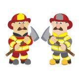 Illustration of cartoon fireman ,vector. An illustration of cartoon fireman ,vector Stock Photo