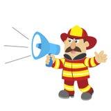 Illustration of cartoon fireman ,vector. An illustration of cartoon fireman ,vector Stock Image