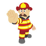 Illustration of cartoon fireman ,vector Royalty Free Stock Image