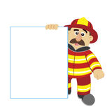 Illustration of cartoon fireman ,vector Stock Images