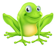 Cartoon frog character Stock Images