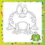 Illustration of Cartoon frog Stock Images