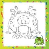 Illustration of Cartoon frog Stock Photo