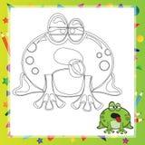 Illustration of Cartoon frog Stock Image