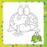 Illustration of Cartoon frog Stock Photography