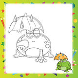 Illustration of Cartoon frog Royalty Free Stock Photo