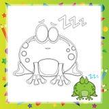 Illustration of Cartoon frog Royalty Free Stock Photography