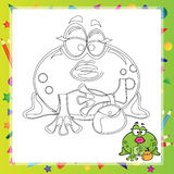 Illustration of Cartoon frog Royalty Free Stock Images