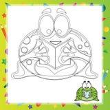 Illustration of Cartoon frog Royalty Free Stock Image