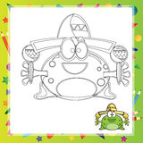 Illustration of Cartoon frog Royalty Free Stock Photos