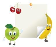 Illustration of Cartoon Fruits Royalty Free Stock Photo