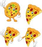 Cartoon funny pizza collection set. Illustration of Cartoon funny pizza collection set Royalty Free Illustration