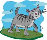 Illustration of Cute cat cartoon walking vector illustration