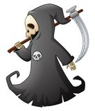 Cartoon grim reaper with scythe Stock Images