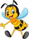 Cartoon happy bee isolated on white background royalty free illustration