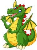 Cartoon happy dragon isolated on white background Stock Illustration
