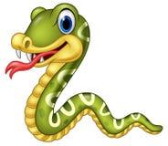 Cartoon happy snake isolated on white background Stock Illustration