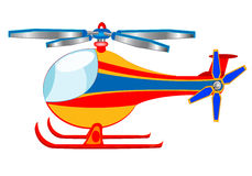 Illustration of the cartoon helicopter Royalty Free Stock Photos
