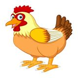 Cartoon hen posing royalty free illustration